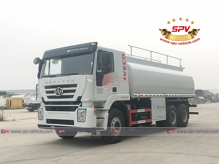 To Djibouti, SPV is shipping fuel tank truck IVECO(20,000 litres) in December, 2018.