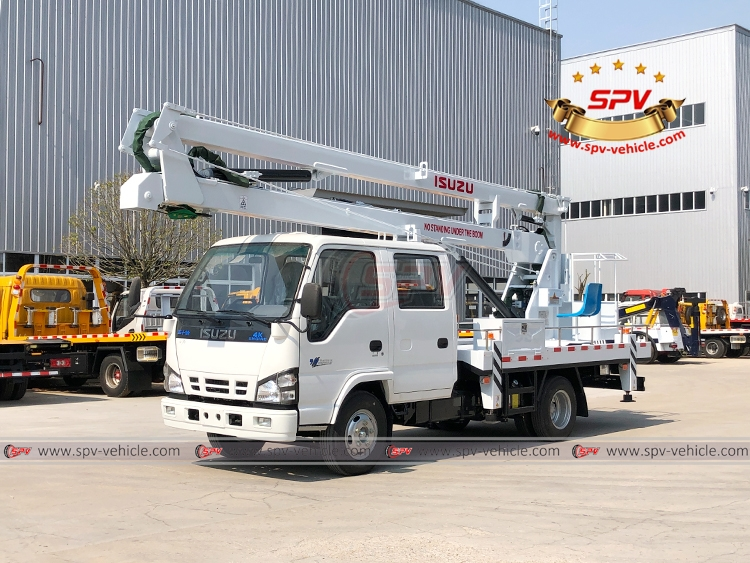 To Cambodia, SPV is dispatching 16 meters aerial platform truck ISUZU in April, 2020.