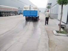 Road sweeper sweeping test